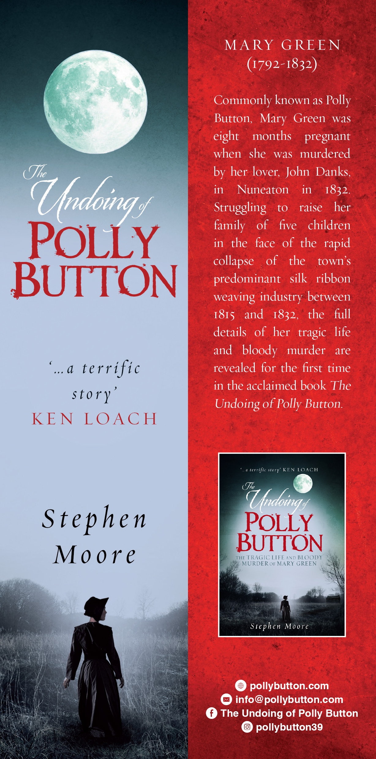 Polly Button Bookmark